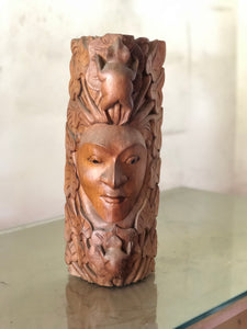 Face reef / wooden sculpture size 45cm