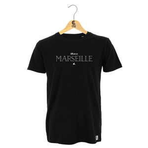 "T-Shirt noir ""Made in Marseille"""