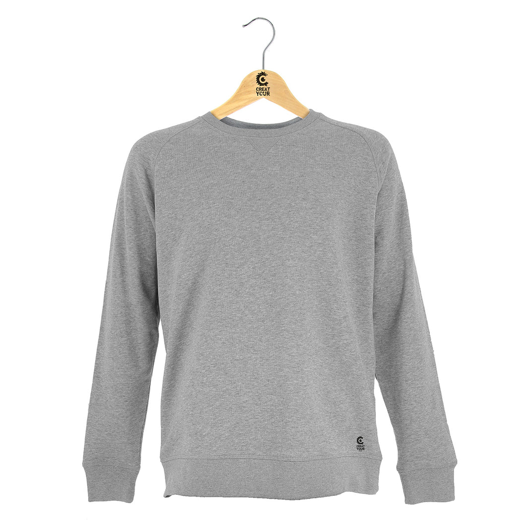 Sweat gris personnalisable