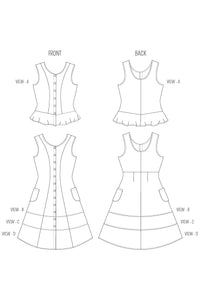 ABBY - DRESS/BLOUSE PDF PATTERN