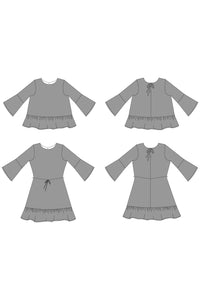 MARIAH - BLOUSE/DRESS PDF PATTERN