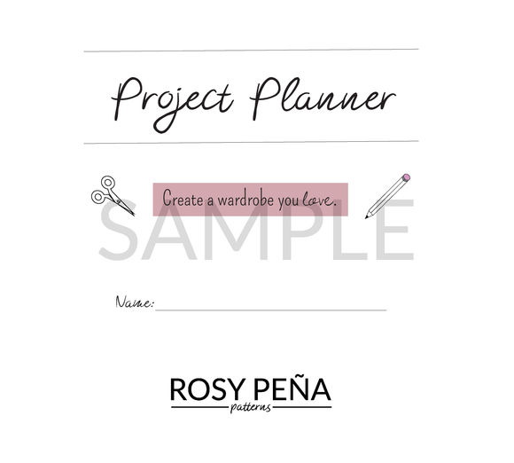 PDF PROJECT PLANNER + BONUS FABRIC ORGANIZATION LABELS