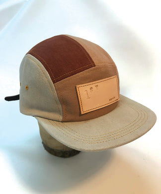Brown Recycled Denim Hat