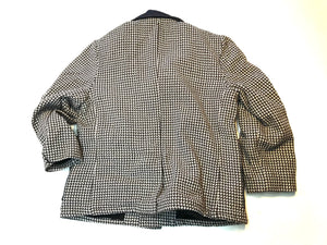 Houndstooth Wool Coat / ReWork