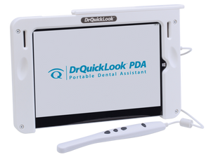 PDA intraoral camera and tablet combo is a light-weight and portable all in one imaging device with its own software and database.