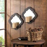 Damask Mirrored Wall Sconces