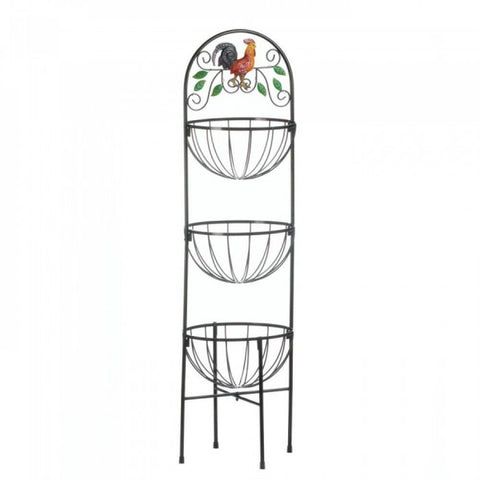 Rooster 3-tier Kitchen Basket