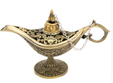 "ERMAKOVA 12cm(4.7"")Classic Rare Hollow Legend Aladdin Magic Genie Lamps Incense Burners Retro Wishing Oil Lamp Home Decor Gift"
