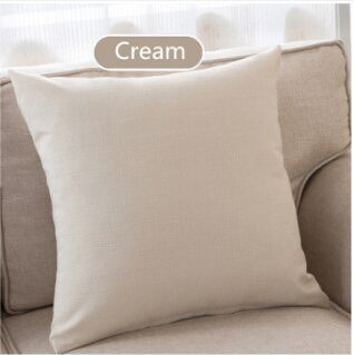 Modern Solid Cotton Linen Sofa Cushion Embrace Pillow 45x45cm/17.7x17.7''  Throw pillow Home Decoration Pillow Seat cushion