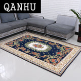 QANHU Bedroom Parlor Carpet Jacquard Sofa Floor Mats Doormat Rugs and Carpets Shaggy Area Rug for Home 5 Colors #T-04