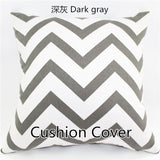 Fashion Sale Two-Sided Cotton Canvas Geometric Wave Stripe Floral Fabric Colorful Decorative Throw Pillowcase Cushion Home Decor