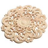 Best Price 15cm Floral Wood Carved Corner Woodcarving Decal Onlay Applique Decorative Crafts for Home Furniture Cabinets Decor
