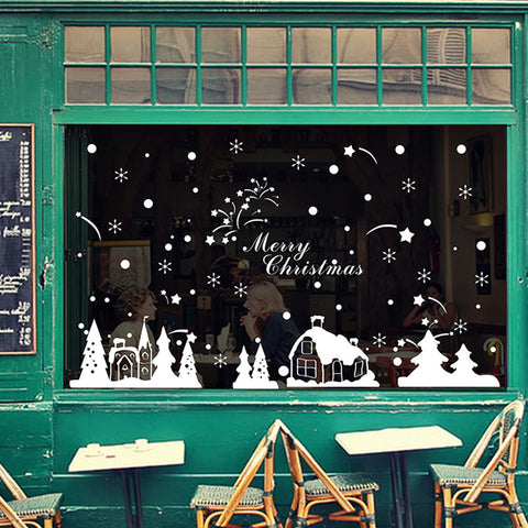 christmas decorations for home wall stickers home decor wall decals merry christmas decoration vinilos paredes