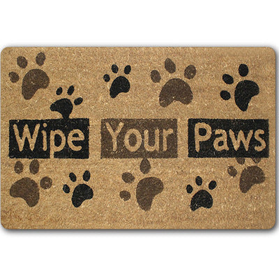 New Welcome Doormats Rubber Door Mat 3D Footprint Letter Carpet For Living Room Bedroom Floor Mats Kitchen Rugs Tapete Foot Pad