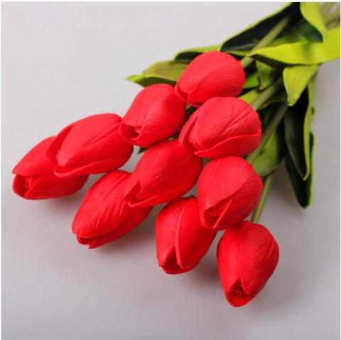 20 Pcs/lot Tulip Artificial Flowers Wholesale Real Touch Bouquet