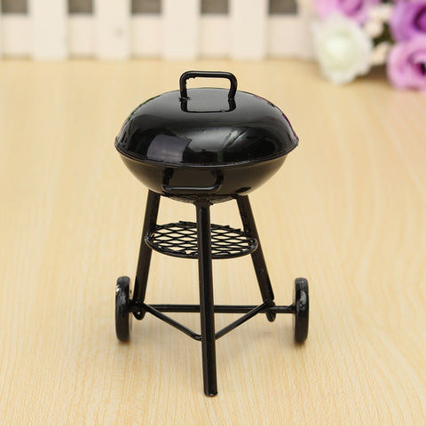 1/12 Scale BBQ Grill Miniature Ornaments Doll house Figurines Gadget Kitchen Acessories Food Furniture for Home Decor Kids Gift