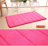 40*60cm Water Absorption Rug Bathroom Mat Shaggy Memory Foam Bath Mat Set kitchen Door Floor Mat Carpet For Toilet Non Slip