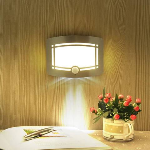 Motion Sensor Activated LED Wall Sconce Battery Operated Wireless Night Light