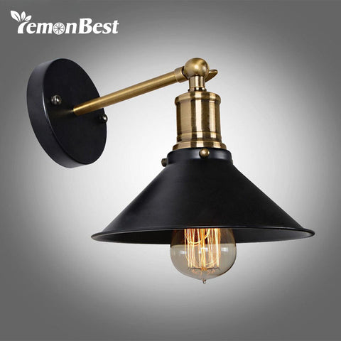 Metal Wall Light Umbrella Vintage Loft Lamp Retro