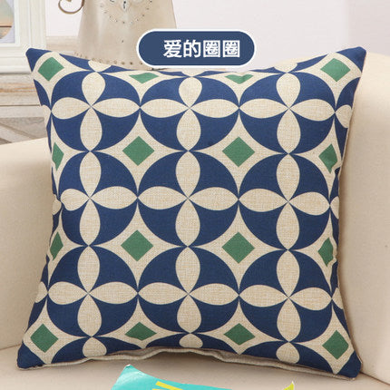 Creative Geometric Linen Cotton Pillow (no filling inside) Decorative Cushion Home Decor Sofa Throw Pillow Square Capa Almofada