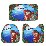 3 pcs Bath Mats Ocean Underwater World Anti Slip Bathroom Mat Set Coral Fleece Floor Bath Mats Washable Bathroom Toilet Rugs