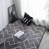 European style grey color stripe Area rugs bedroom Mat Non-slip Floor Rug super soft Decorative antistat Carpet for living room