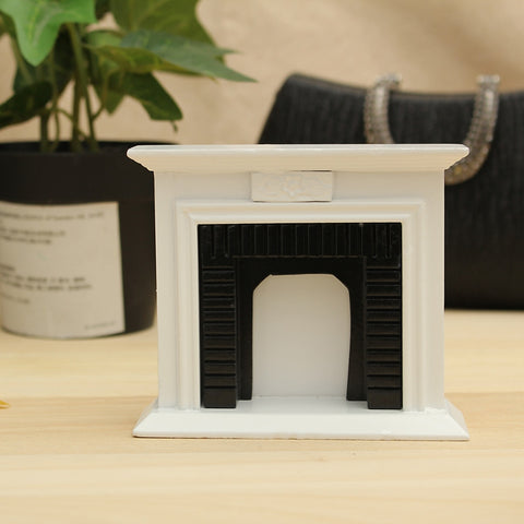 Kiwarm 1:12 Scale Miniature White Wooden Fireplace Dollhouse Home Decor Furniture Accessories For Children Gift Craft Ornament
