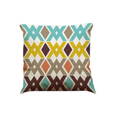 Color Geometric Lines Cotton Linen Throw Pillow Case Cushion Cover Home Décor