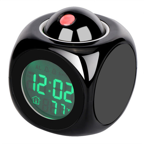 LemonBest Digital Projection Alarm Clock Cube LED