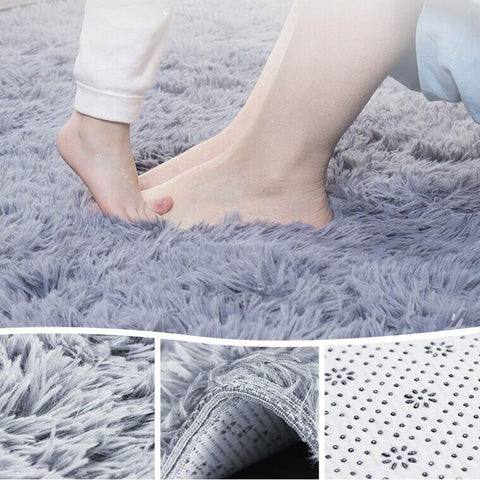 Shaggy Modern Bathroom Bath Thick Rugs Suede Carpet Non-slip Bath Mats Big Cheap Bedroom Carpets Plush Rugs