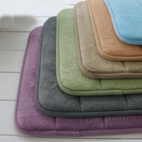 Extra Large Memory Foam Anti-Skid Bath Mat,Super Soft Bathroom Rugs Coral Velvet Non Slip Absorbent Large Carpet