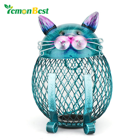 LemonBest Cat Coin Piggy Bank Money Safety Box Kitty Coin Bank Money boxes for children Kids Home Office Decor Ornament Artcraft