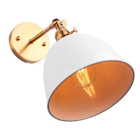 Modern Vintage Bowl Wall Light Sconce Bell Shape