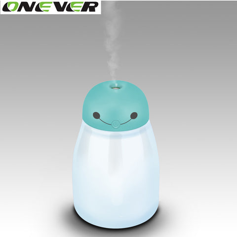 Onever Mini 400ml USB Ultrasonic Humidifier Diffuser Air Purifier Nebulizer