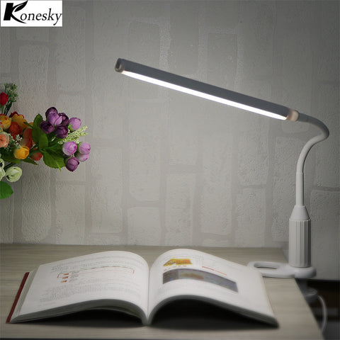 Konesky 5W 24 LEDs Foldable Table Desk Lamp LED Touch Light