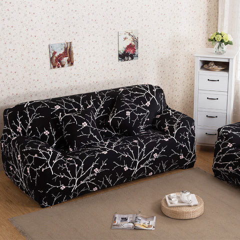 Printed Stretch Furniture Cove Slipcover Slip-resistant Cloth Art Spandex Seat Cover for Single Two Three Four-seat Sofa