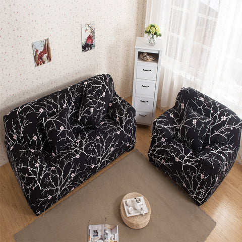 1/2/3/4 Seat Universal Sofa Cover New Cloth Art Spandex Stretch Couch Cover Printed Furniture Slipcover Machine Washable