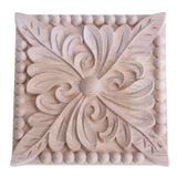 Retro Wood Carved Decal Corner Onlay Applique Frame Furniture Wall Unpainted For Home Cabinet Door Decor Crafts  21*15*0.8cm