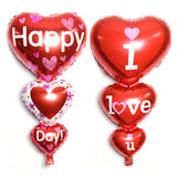 Love You/Happy Day Aluminum Foil Balloon Love Heart