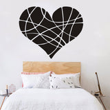 KAKUDER Wall Sticker Valentines Day Love Geometry heart Decals home decoration  a801 5