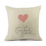 Ouneed Love decorative Cushion Cover Valentine Pillow Case Linen 45x45cm a801 5