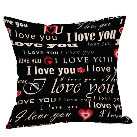 Ouneed LOVE decorative Cushion Cover Flax Valentine Cheap Pillow Case  45x45cm a801 5