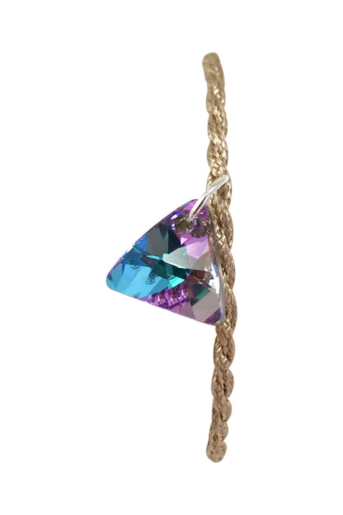 bracelet with austrian crystal swarovski triangle charm in vitrial