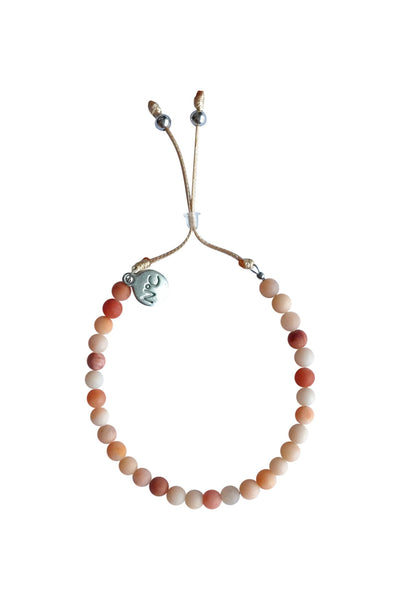 Natural Sand Jade Perlina Bracelet