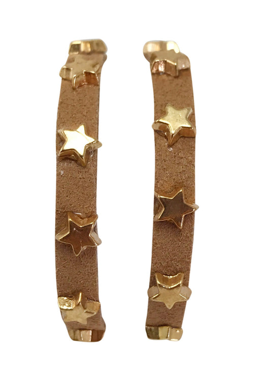 Star Studded Wrap Bracelet, Brown