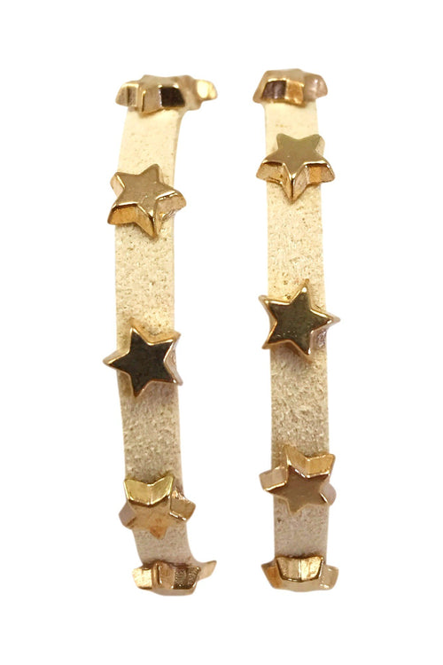 Star Studded Wrap Bracelet, Cream