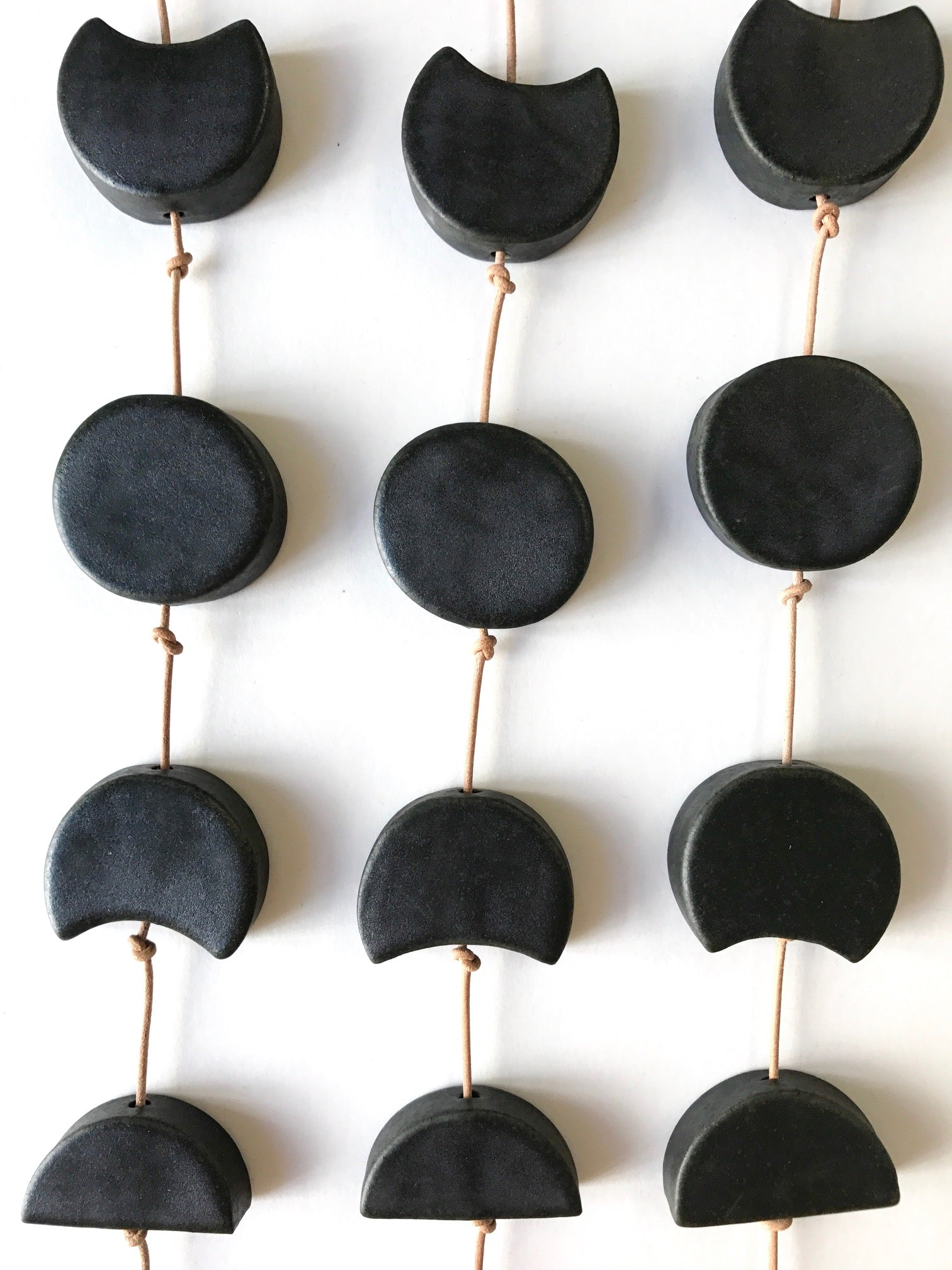 you are my moon; burnished steel ceramic moon phases vertical wall hanging
