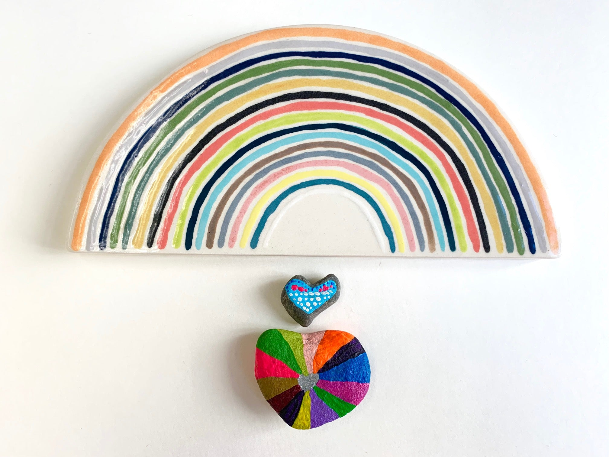 rainbow hand painted  plaque