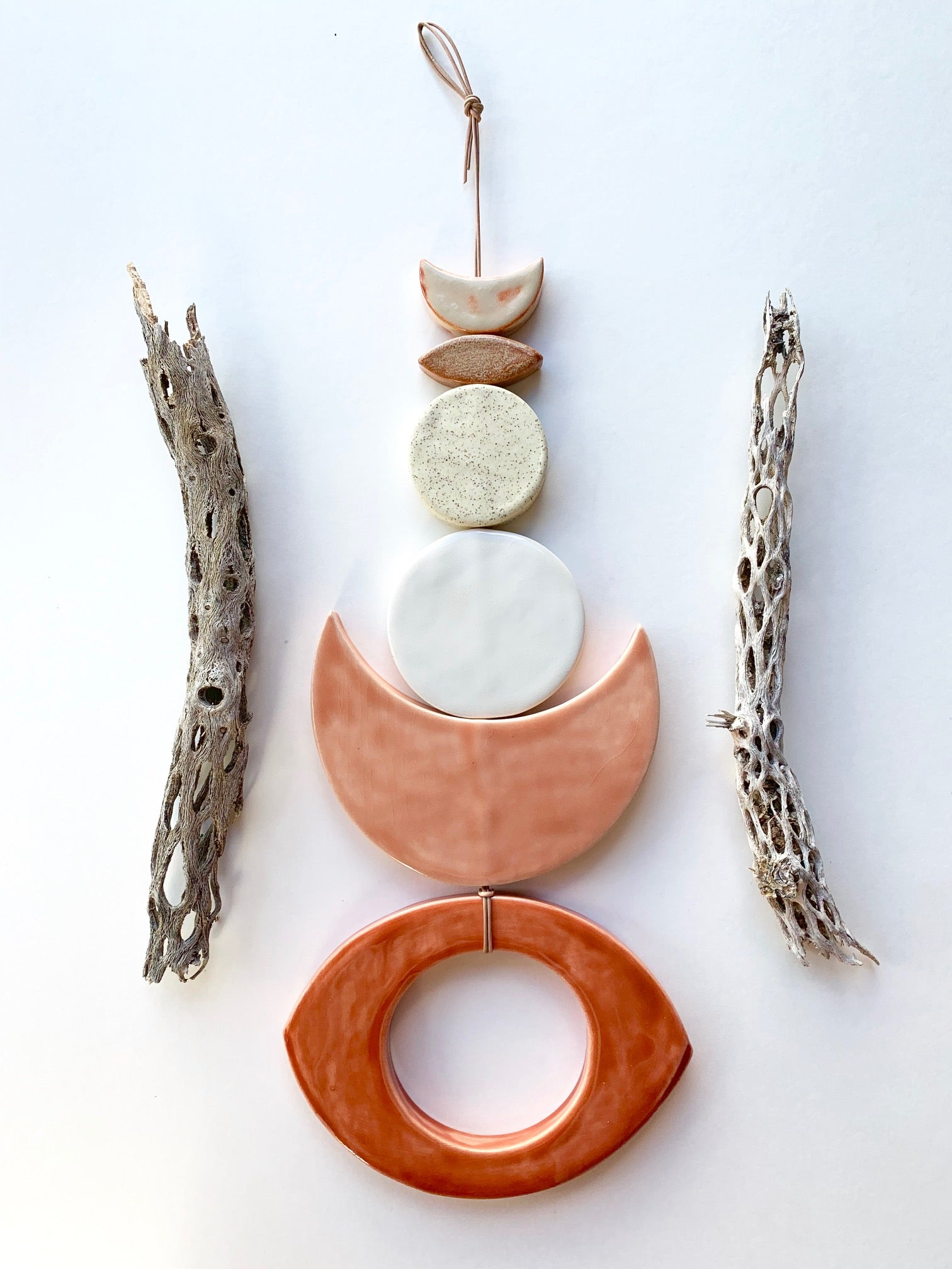 one of a kind, desert rising ceramic wall hanging