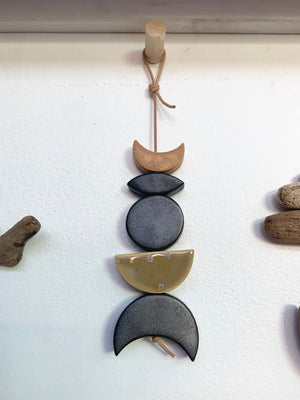 one of a kind, symbiotic ceramic wall hanging